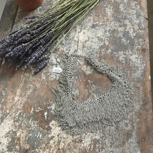 Jewelry - Silver Fringe Statement Necklace